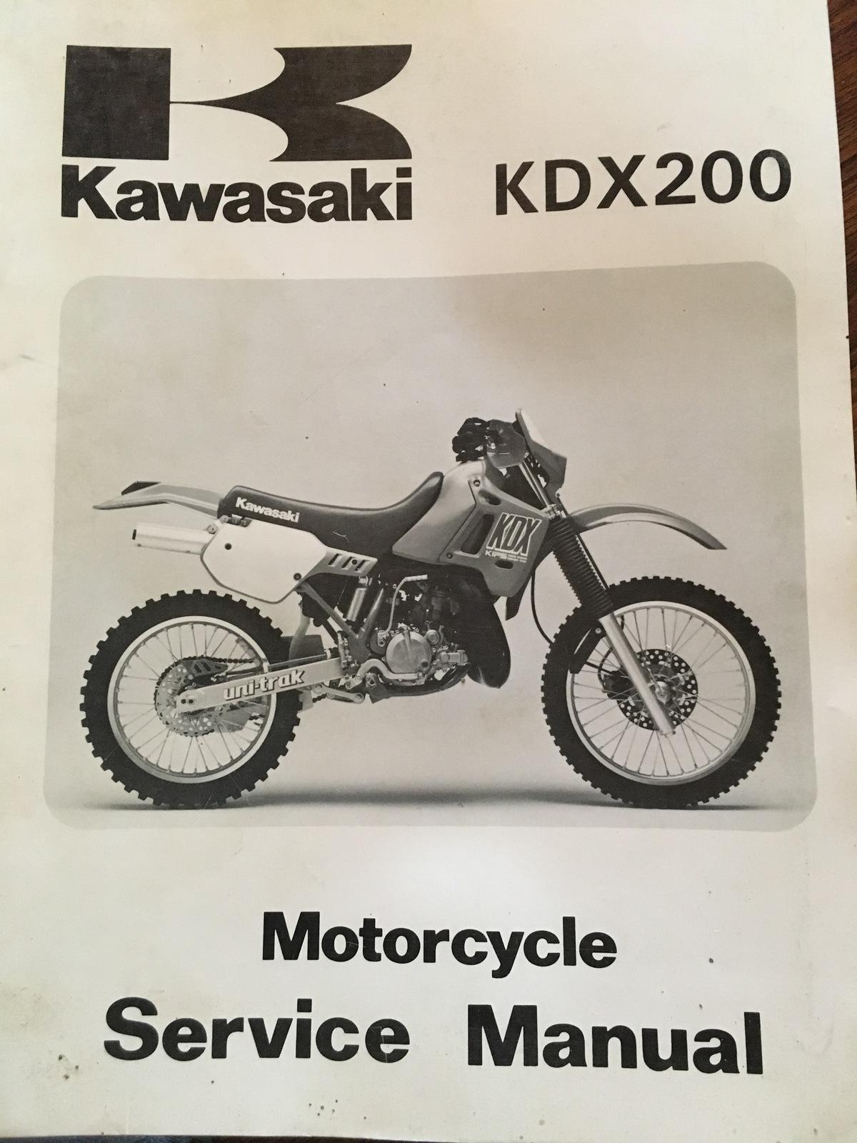 KAWASAKI KDX200 1989 SERVICE MANUAL