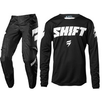 YOUTH SHIFT NINETY SEVEN WHIT3 MX GEAR SET PANTS 26 & JERSEY YOUTH LARGE