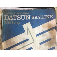 DATSUN SKYLINE C210 SERIES  NISSAN SERVICE WORKSHOP MANUAL