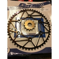 KTM DIRT TRICKS FRONT 13 & REAR 52 SPROCKET SET 125 200 250 300 350 450 500 530 EXC SX
