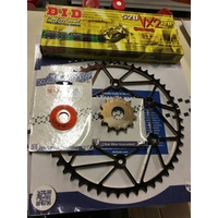 KTM DIRT TRICKS FRONT 14 REAR 50 SPROCKET DID CHAIN 250 350 450 500 530 4ST DOME WASHER