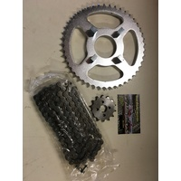 HONDA XR 75 & XR 80 R CHAIN & SPROCKET KIT 14 T FRONT 44 T REAR 420 CHAIN  UP TO 84