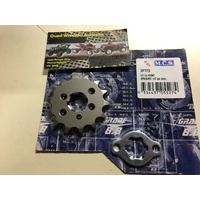 HONDA CT 110 POSTIE FRONT SPROCKET 14 TOOTH WITH MOUNT PLATE