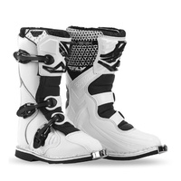 FLY RACING MAVERICK JUNIOR YOUTH DIRT BIKE BOOTS white SIZE 6