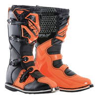 FLY RACING MAVERICK JUNIOR YOUTH DIRT BIKE ORANGE BLACK BOOTS SIZE 2