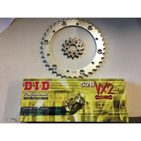 YAMAHA RAPTOR 660 CHAIN AND SPROCKET SET DID 13 FRONT 40 T REAR