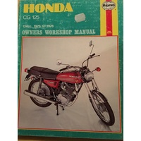 HONDA CG125 1976 1978 HAYNES WORKSHOP MANUAL