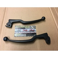 SUZUKI DS 80 JR 80 FRONT BRAKE & CLUTCH LEVER SET PAIR BLACK 464