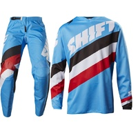 SHIFT MX OFFROAD RACE WHIT3 TARMAC BLUE / STRIPES EXTRA LARGE JERSEY 36 PANTS