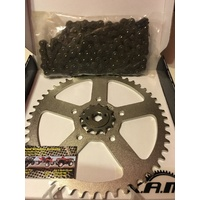 HONDA CTX 200 AG BUSHLANDER CHAIN AND SPROCKET KIT 13 T FRT 50 T REAR 520 CHAIN