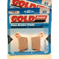 KTM REAR BRAKE GOLD FREN K5  PADS  , 125 150 200 250 300 350 450 500 530