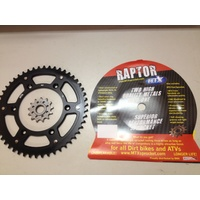 KTM 50 TOOTH REAR & 14 T FRONT SPROCKET BLACK MTX RAPTOR HUSABERG 300 250 450