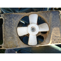 USED LTF 500 FW 4X4  QUAD RUNNER MASTER RADIATOR  COOLING FAN. , WRECKING QUADS