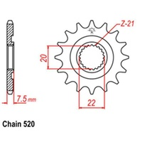 HONDA CR 125 R CRF250 CRFX 12 TOOTH FRONT STEEL SPROCKET