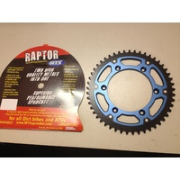 YAMAHA YZ 125 250 49 TOOTH REAR MTX RAPTOR  SPROCKET BLUE