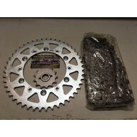 HONDA XR 200 R CHAIN AND SPROCKET KIT SET 13 T FRT 46 T REAR 520 CHAIN