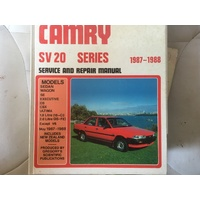 TOTOTA CAMRY SV20 1987-1988  GREGORYS  WORKSHOP MANUAL