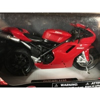 DUCATI 1198 RED  TOY MODEL  DIECAST  1:12 SCALE