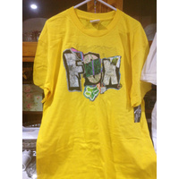 KIDS FOX RACING BOYS ONLY HOBO SS TEE YELLOW XLARGE. ex display stock (107)