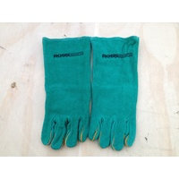 BOSS SAFE WELDING GLOVES - WORKING GARDENING LEATHER OUTER LINED INNER ONE PAIR