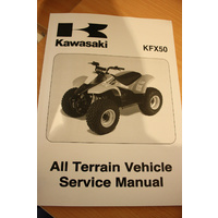 GENUINE KAWASAKI SERVICE WORKSHOP MANUAL 2003 KFX 50 QUAD