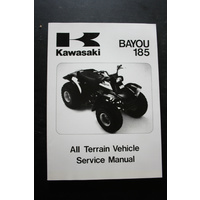 GENUINE KAWASAKI SERVICE WORKSHOP MANUAL '85 BAYOU 185 ATV
