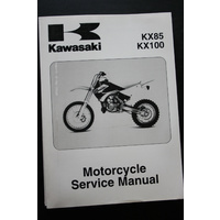 GENUINE KAWASAKI MOTORCYCLE SERVICE WORKSHOP MANUAL 01-09 KX85 / KX100