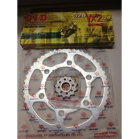 KTM 50 REAR 14 T FRONT STEEL mtx SPROCKET DID XRING CHAIN 125 200 250 300 450 500
