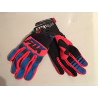 FOX RACING MX  ENDURO OFF ROAD  MAKO GLOVES  BLUE BLACK ORANGE SIZE LARGE