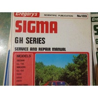 SIGMA GH SERIES 1980-1981 GREGORYS  WORKSHOP MANUAL