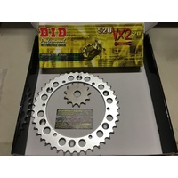 YAMAHA DT 200 CHAIN AND SPROCKET SET 14 FRONT 43 REAR 520 GOLD X RING CHAIN