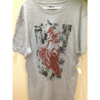 ADULT/MENS FOX SHORT SLEEVE T / TEE SHIRT.  SIZE MEDIUM  (132)