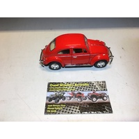 VOLKSWAGEN VW CLASSIC BEETLE BUG MODEL DIECAST 1:32 SCALE RED