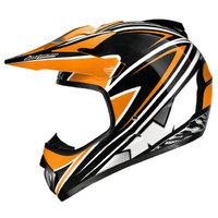 M2R X2.5 BRANDED HELMET ORANGE KTM MX DIRT BIKE PC4 SIZE MEDIUM