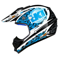 M2R X2.6 LKI LOOSE KID CHRONICLE BLUE HELMET MX DIRT BIKE PC5 SIZE MEDIUM