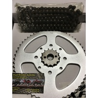 HONDA CT 125 185 200 AG  CHAIN AND SPROCKET KIT 14 T FRT 56 T REAR 428 CHAIN