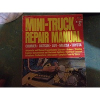 MINI TRUCK  PETERSENS REPAIR  MANUAL COURIER LUV TOYOTA DATSUN MAZDA