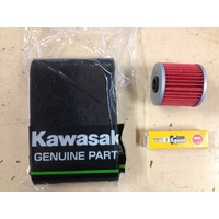 KAWASAKI SERVICE KIT KLF 220 250 300 4X4  AIR OIL FILTER SPARK PLUG