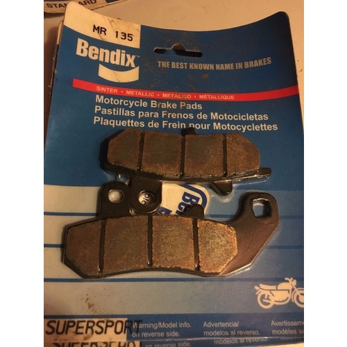 BENDIX BRAKE PADS REAR SUZUKI DR BIG 600 750 800 650 RGV 250  MR135